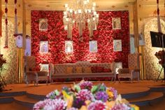 Royal Redrose Theme at The Ritz in Wedding Venues by FNP Gardens Wedding Backdrop Design, Wedding Stage Decorations, 25th Wedding Anniversary, New Theme, Traditional Decor, Wedding Designs, Red Roses, Wedding Planner, Backdrops