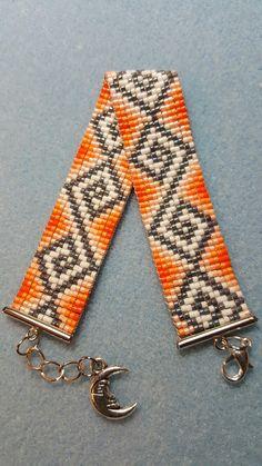 Loom Bracelet Patterns, Bead Loom Bracelets, Bead Loom Patterns, Beaded Jewelry Patterns, Woven Bracelets, Beading Patterns, Bead Jewellery, Seed Bead Jewelry, Beaded Hat Bands
