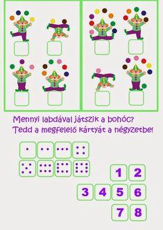 A farsangi mulatságokról biztosan ismerős lesz a gyerekeknek a vidám bohóc figurája. A Bohócos játékcsomag segítségével most a kisebbek is játszhatnak, ügy Preschool Education, Preschool Crafts, Theme Carnaval, Clown Crafts, Blank Coloring Pages, Le Clown, Cicely Mary Barker, Educational Games For Kids, Math For Kids