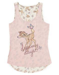 Bambi Floral Pyjama Top