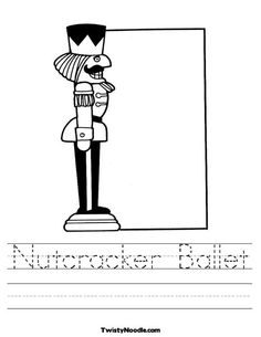 Nutcracker Worksheet - Copywork