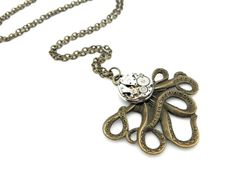 Clockwork Cephalopod Necklace  The Brainiacs by SteamSect on Etsy