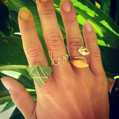 Green Seaglass 14K Gold Wire Wrapped Ring by shandahawaiiandesign, $16.00