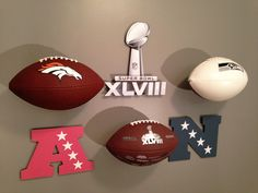 """<p> Mount your game, signed, or favorite team's football to the wall, displaying your team colors.</p> <p> Display your football in one of two positions with the included wires, either showing the printed logo on the ball or the underside signature area.</p> <p> INVISI-ball Wall Mount - """"Keeps your eye on the ball!<sup><small>TM%3..."""