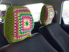 Granny Square Headrests {Sanna & Sania}