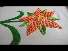 Hand embroidery designs. Ribbon embroidery by hand tutorial. Ribbon roses. - YouTube