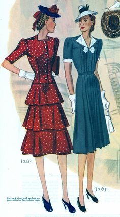 McCall 3283 and 3265 in McCall's magazine, June 1939