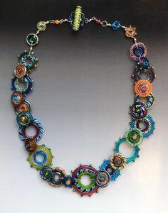 Glas Halskette  Spirograph Collection: handgefertigte Glas