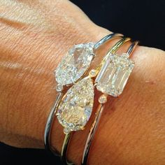 <3 *.* Diamond stacked bracelets #ChristiesJewels Instagram - WOW!! - THIS IS DEFINITELY 'SOME STACK!!' - GORGEOUS!!