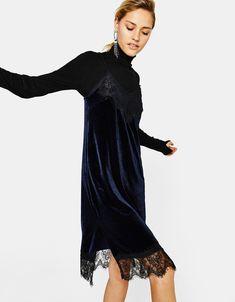 Φόρεμα κομπινεζόν βελούδινο