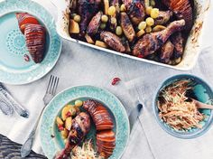 Roast Chicken with Grapes and Pomegranate Sauce | Vištiena su žaliomis vynuogėmis ir granatų padažu  Green grapes, pomegranate sauce, saffron and various spices combine in this recipe to create flavourful roast chicken.  Recipe is now on kitchenjulie.com    Žaliosios vynuogės, granatų padažas, šafranas ir įvairūs prieskoniai orkaitėje keptai vištienai suteiks nepakartojamo skonio.   Receptas jau kitchenjulie.com