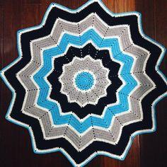 nessbombaert crochet ripple star blanket
