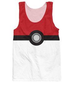 RuiYi Free Shipping Women Men Fashion  Shirt Tops Character Vest Pokemon Pokeball Catch Em All Tank Top tees jersey