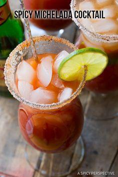 Zesty Spicy Michelada Recipe (Mexican Cocktail)   ASpicyPerspective.com