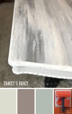Mar 2020 - Want that solid wood look on a budget? See Tracey's Fancy easy step-by-step instructions to create a faux wood grain on nearly any surface with chalk paint. Painted Dining Room Table, Black Dining Room Table, Painted End Tables, Console Table, Dining Table, Chalk Paint Table, Chalk Paint Kitchen, Chalk Paint Furniture, How To Chalk Paint
