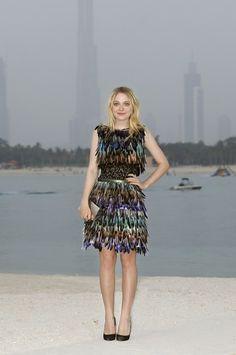 Dakota Fanning no desfile da Chanel em Dubai