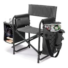 Picnic Time 807-00-679-000-0 Fusion Folding Chair, Gray with Black Frame: Amazon.ca: Sports & Outdoors