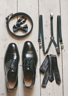 Whimsical Australian wedding, all your groom needs for the wedding day: shoes, braces/belt, bow tie, tie