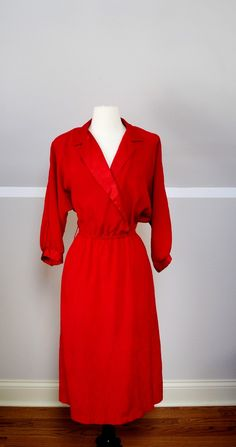 #vintage Super cute red dress! I'd wear it everyday.