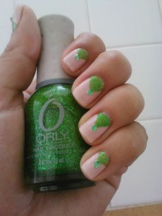Pintrest remake.. Wet&Wild: Sugar Coat/ design done w/ Orly: Here Comes Trouble