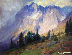 Gathering Storm near the San Juan Mountains Artwork by Charles Partridge Adams Hand-painted and Art Prints on canvas for sale,you can custom the size and frame