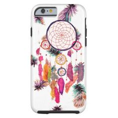 Hipster Watercolor Dreamcatcher Feathers Pattern iPhone X Case - girly gifts girls gift ideas unique special Samsung Galaxy Cases, New Iphone, Iphone Case Covers, Watercolor Dreamcatcher, Dreamcatcher Feathers, Dreamcatchers, Tribal Feather, Feather Dream Catcher, Girly Gifts