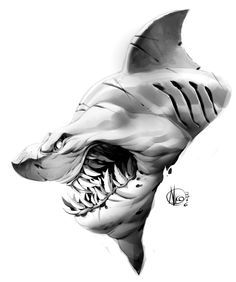 Shark, Nicola Saviori on ArtStation at https://www.artstation.com/artwork/lyrAz