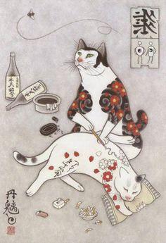 Gatos tatuando a otros gatos perfectos para tu tatuaje - Taringa!