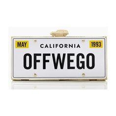 Kate Spade California Road Trip License Plate Clutch | The House of Beccaria~