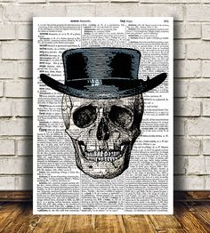 Amazing Skull poster. Gorgeous Skeleton print for your home and office. Adorable Gothic decor. Pretty contemporary Anatomy print.    SIZES: A4 (8.3