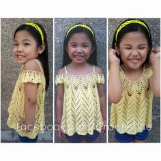 Fan Project Share: Tulip Chevrons-read intro for this pattern Crochet Toddler, Baby Girl Crochet, Crochet Baby Clothes, Crochet For Kids, Free Crochet, Crochet Tops, Crochet Girls Dress Pattern, Chevron Crochet, Girl Dress Patterns