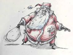 Santa time lapse sketch - YouTube