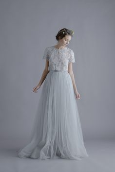 Alexandra Grecco Louise Lace Blouse and Lya Tulle Skirt