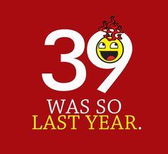 40th Birthday Shirt Mens Over the Hill Tshirt Funny Guys 40 Year Old Tee L XL 2X #ShortSleeve