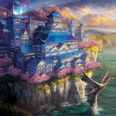 Exquisite Palace of the Crane v2 by Alayna.deviantart.com on @deviantART