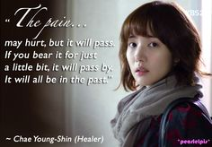 Healer quotes: Park Min Young as Chae Young Shin (ep2)