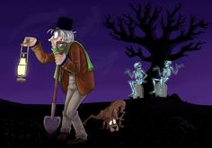 www.all john lowe haunted mansion ghosts pin it | Haunted Mansion art - Tread carefully