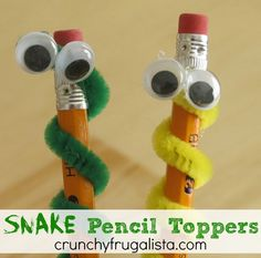 Homemade Pencil Toppers