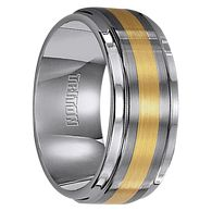 9 mm Tungsten with 18 kt. Yellow Gold - V098-9C