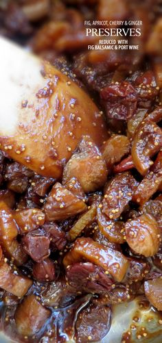 ... Dried Cherries, Figs, Apricots and Crystallized Ginger, combined over