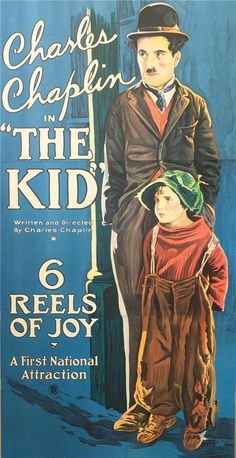 Charlie Chaplin The Kid 3 Sheet Vintage Movie Poster Lithograph Hand Pulled S2 #ArtDeco