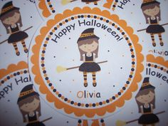 Witch Halloween Stickers  Halloween Tags  Halloween Tag  by kidEprints, $5.99
