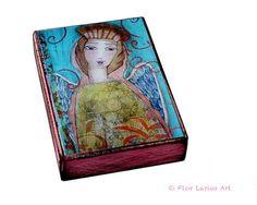 Angel de ternura  ACEO Giclee imprime montado sobre por FlorLarios, $10.00