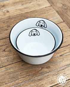 """Hundeschüssel """"Wuff"""" Nice, Tableware, Cat Bowl, Dogs, Small Bowl, Outdoor Camping, Dinnerware, Tablewares, Porcelain"""