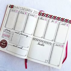 Cute idea for weekly spread