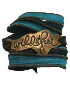 Inspirational Wrap Bracelet, Wild + Free