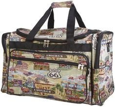 World Traveler Route 66 Duffle Bag 22inch -- Read more  at the image link.