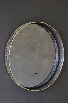 This round mirror offers both boldness and delicacy Circular mirrors work wonders in living rooms Open up the space with a bold statement mirror Rockett St George, Circular Mirror, Mirror Work, Round Mirrors, Kitchen Art, Interior Accessories, Decorative Items, Brass, Personalized Items