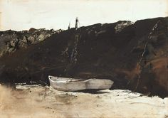 © Andrew Wyeth www.andrewwyeth.com Teel's Landing. 1953 watercolour on paper. 19 x 28 in. (48.26 x 71.12 cm.)