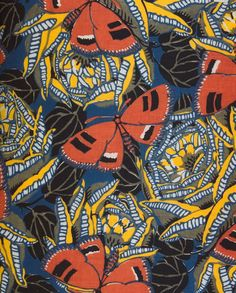 In 1926, master of French Art Deco design, Emile-Alain Seguy painted this beautiful pattern of butterflies and roses.